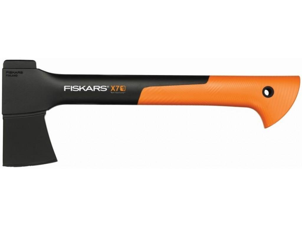 """FISKARS 121423 - Брадва за къмпинг, лов и туризъм """"X7 - XS"""", с пластмасова кания"""