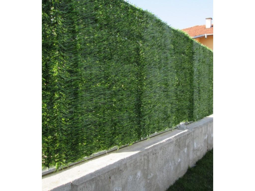 """Изкуствено озеленяване за огради, балкони и тераси модел """"БОР""""; Височина H=1.0m x Дължина L=3.0 m - (модел MZ 800-100)"""