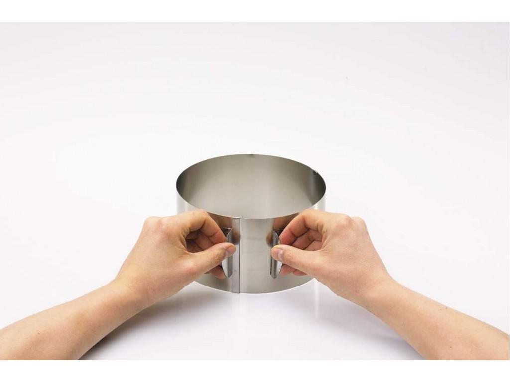 GEFU 14304 - Кръгла форма за торта с регулиране, Диаметър: от Ø16 до Ø 32 cm