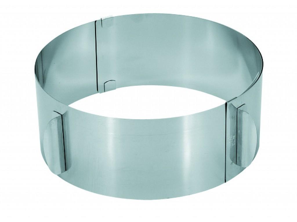 GEFU 14308 - Кръгла форма за торта с регулиране, Диаметър: от 16 до 32 cm, Височина: 8.5 cm