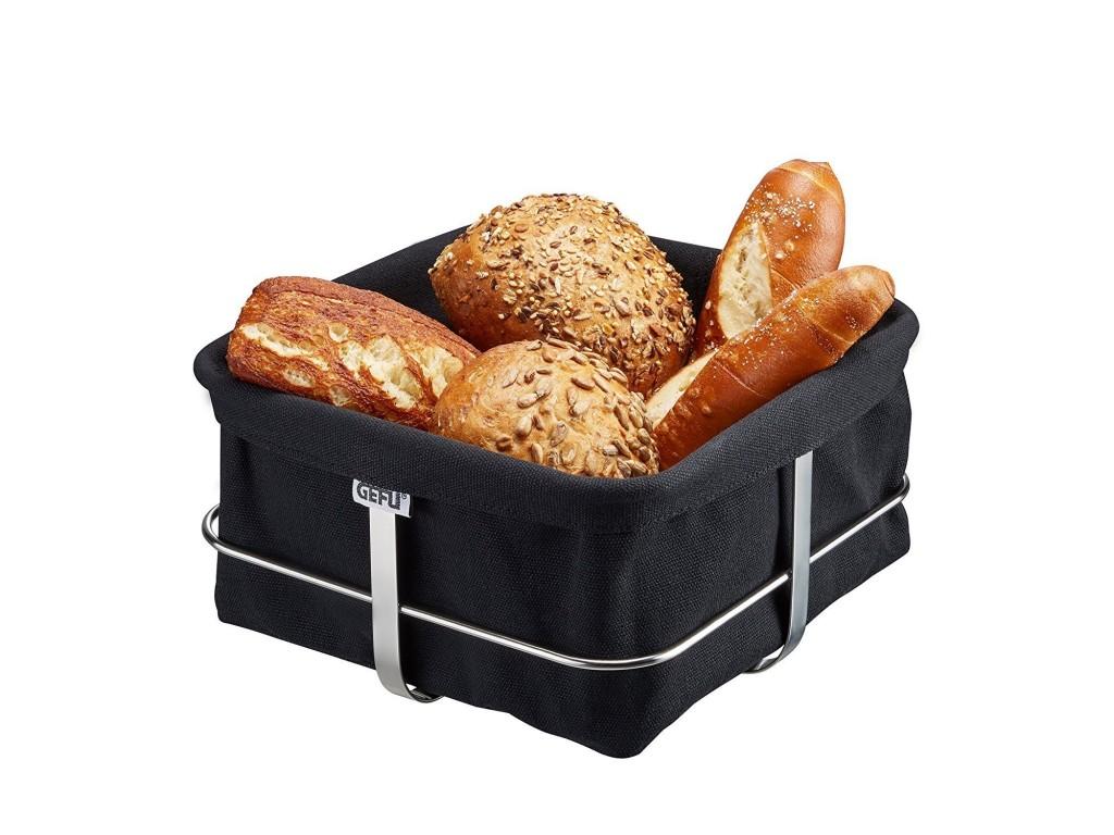 "GEFU 33670 - Панер за хляб ""BRUNCH"", квадратен, черен"