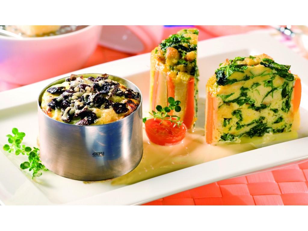 GEFU 12160 - Комплект от 2 пръстена за десерти и салати