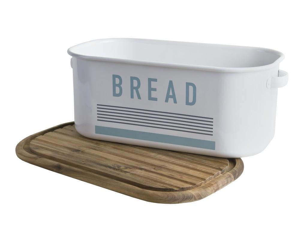 JAMIE OLIVER JB 8901 - Кутия за хляб VINTAGE +  дъска от акациево дърво, Размери на кутията: 44 х 25 cm