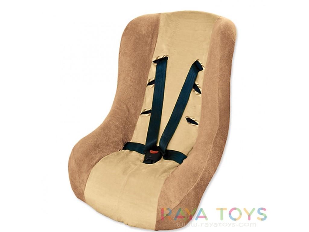 0153 Калъф за стол за кола бежов 16