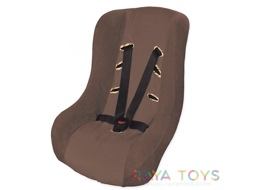 0153 Калъф за стол за кола кафяв 18