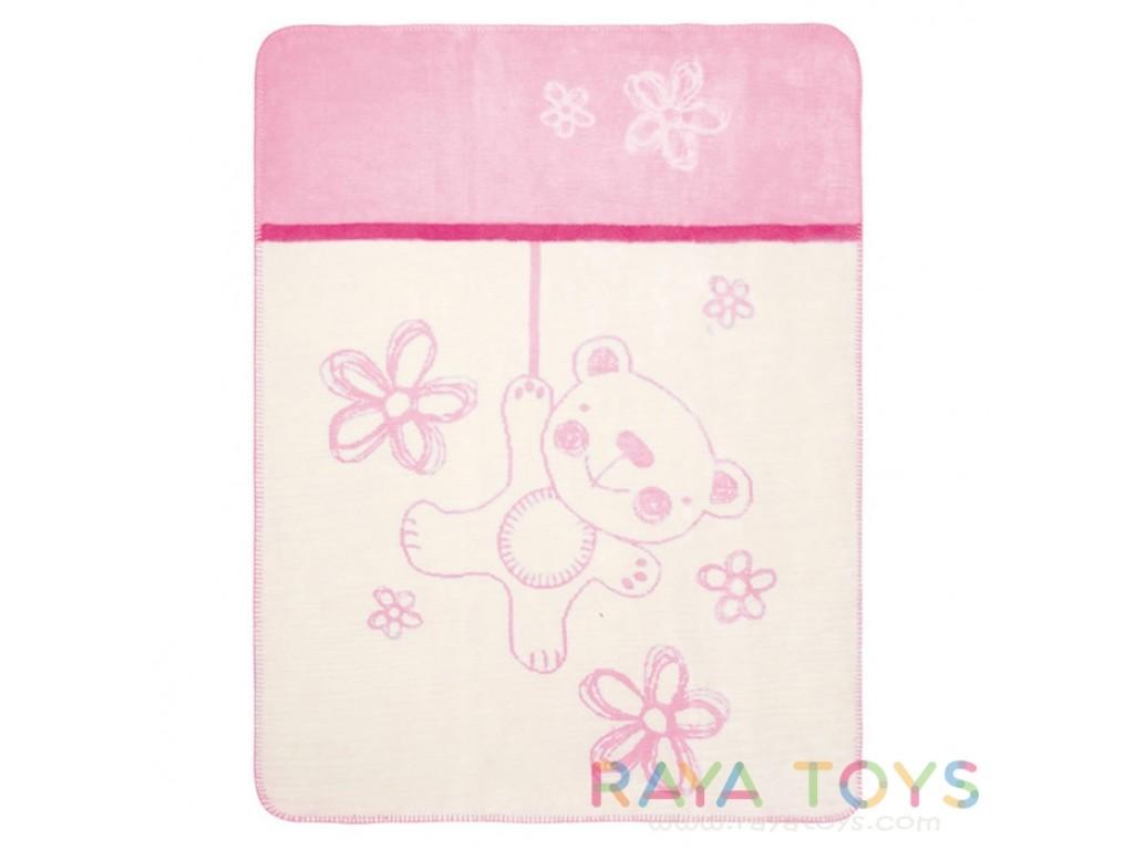 0201 Одеяло Teddy 75/100 розово 10