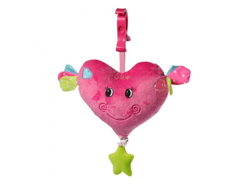 1115 Плюшена муз.играчка Сърце Babyono