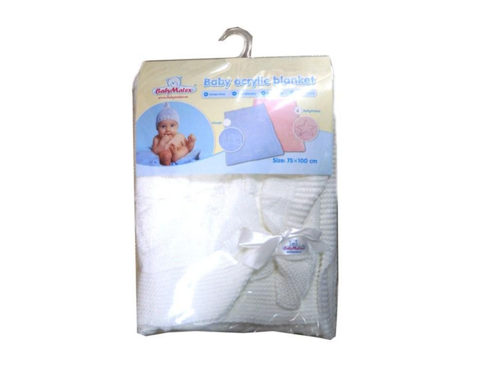 0135 Одеяло плетено бяло 75/100 01