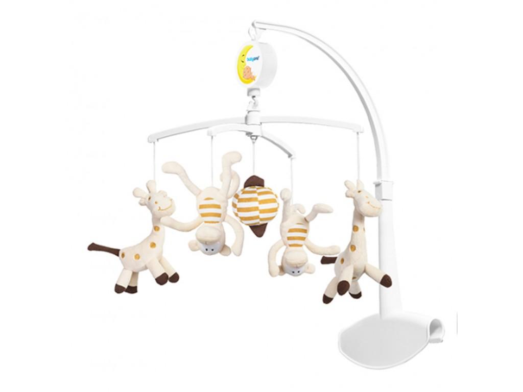 1367 Муз. въртележка жирафи и маймунки