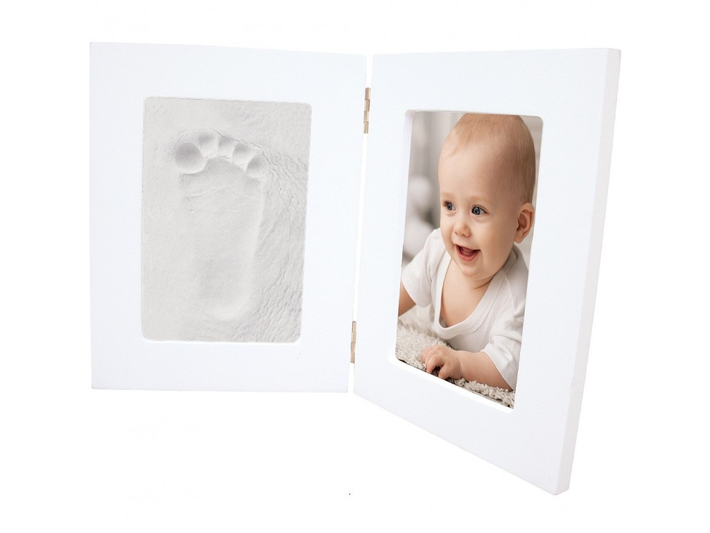 130010 Отпечатък Happy Hands Double Frame White