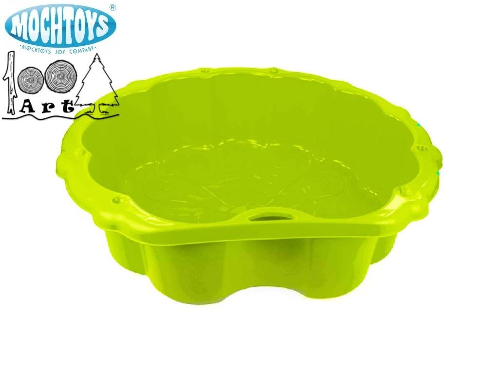 "MOCHTOYS 10196 - Пластмасов пясъчник ""МИДА"", Цвят: Зелен, Размери: 21.5x103.5x90 см"