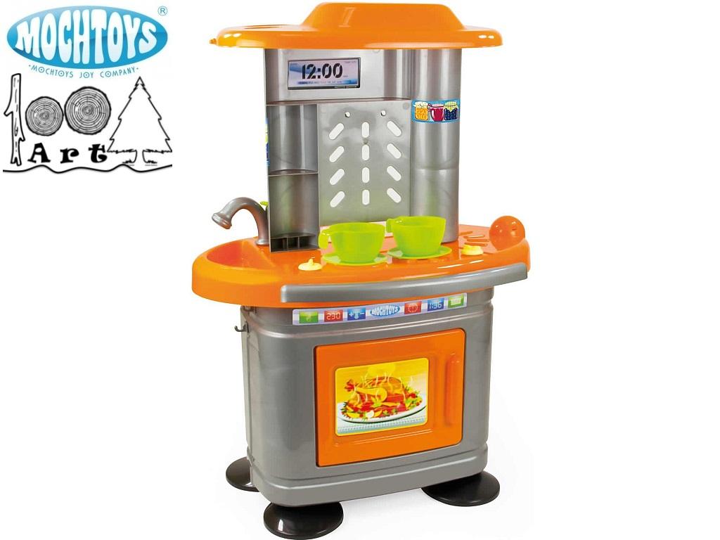 MOCHTOYS 10325 - Детска кухня с височина 67 cm, Размери: 38.5x49x67 см