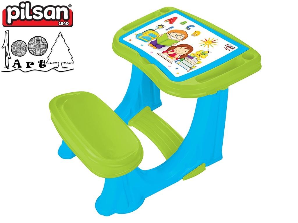 PILSAN 03433 - Детски учебен чин, Цвят: Син, Размери: 62x78x50 см, Тегло: 3.52 кг