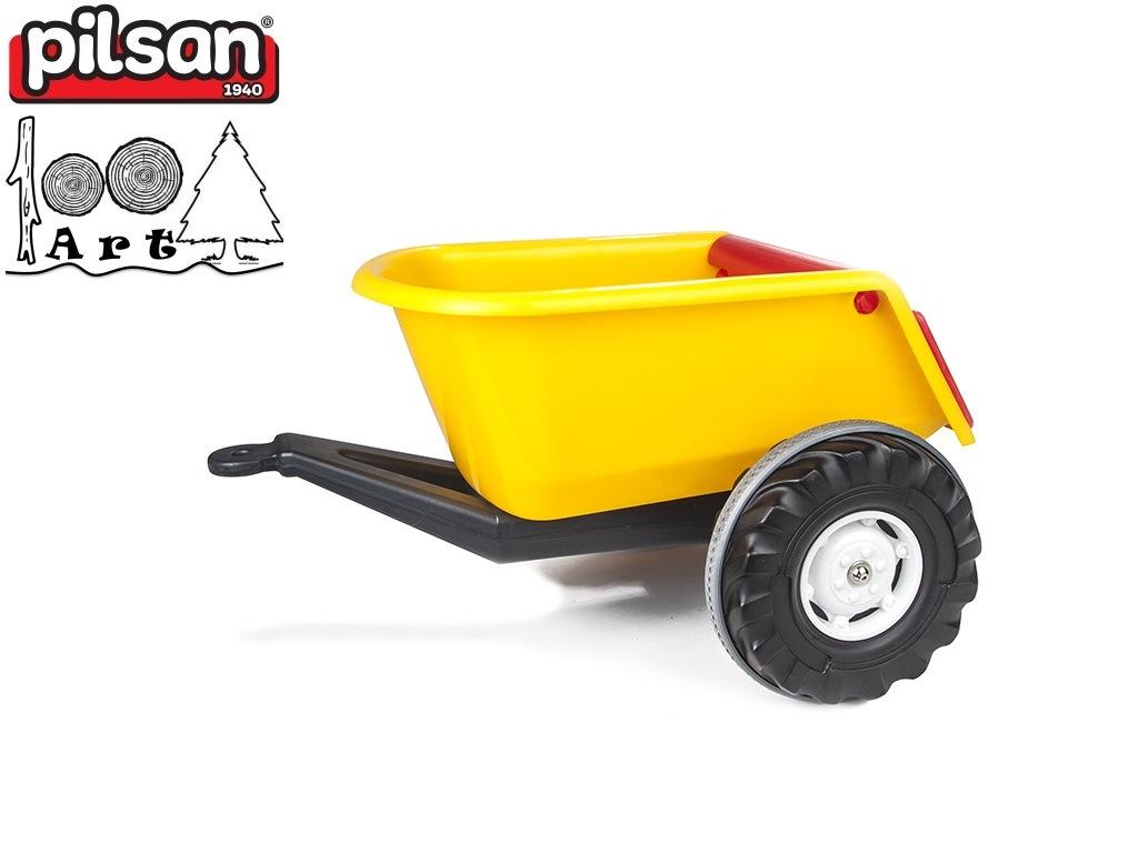 PILSAN 07295 - Детско пластмасово ремарке, Цвят: Жълт, Размери: 38x67.5x50.5 см, Тегло: 3 кг