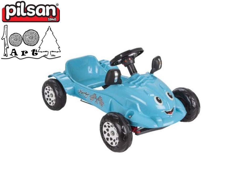 "PILSAN 07302 - Детска пластмасова кола с педали ""HERBY"", Цвят: Тюркоаз, Размери: 43.5x80x55 см, Тегло: 4 кг"