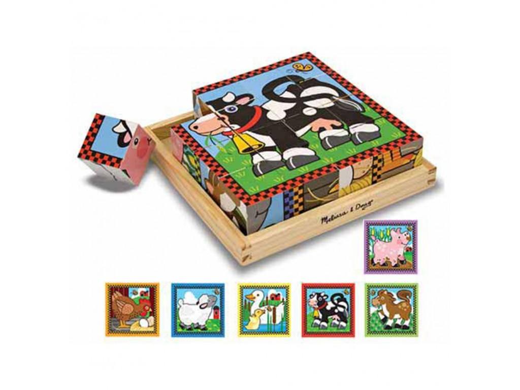 10775 Дървени кубчета 6 картинки