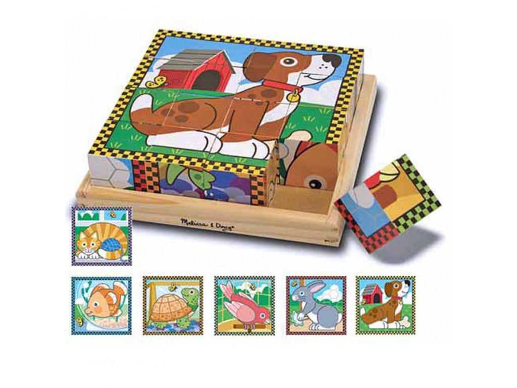 13771 Дървени кубчета животни