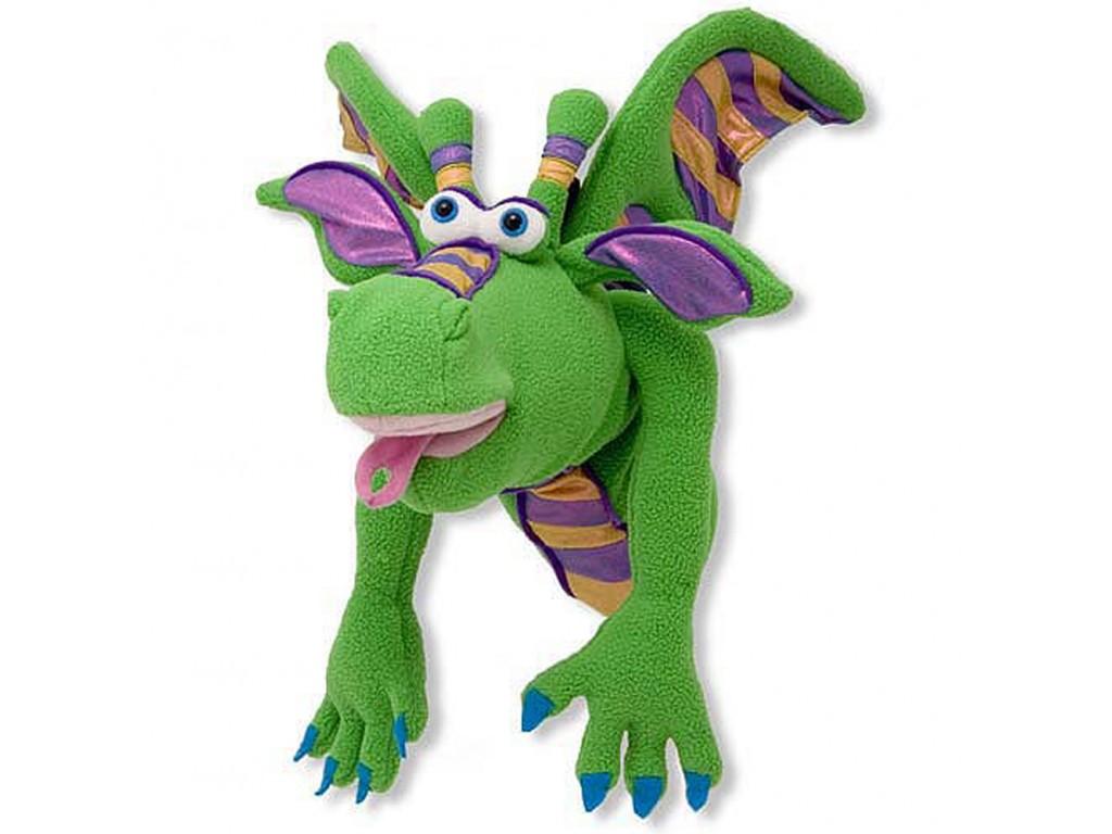 13908 Плюшен дракон за куклен театър