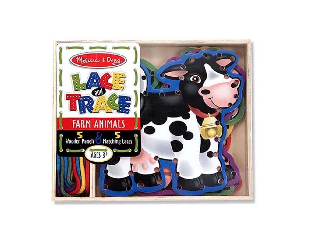 13781 Дървени животни ферма с връзки