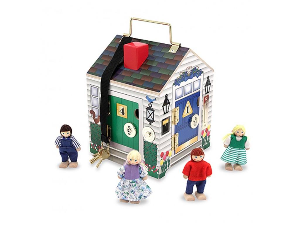 12505 Дървена къща с ключове за ориентация