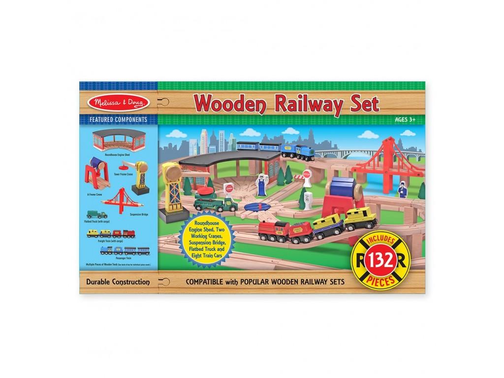 10701 Дървена Влакова композиция 132 ч.
