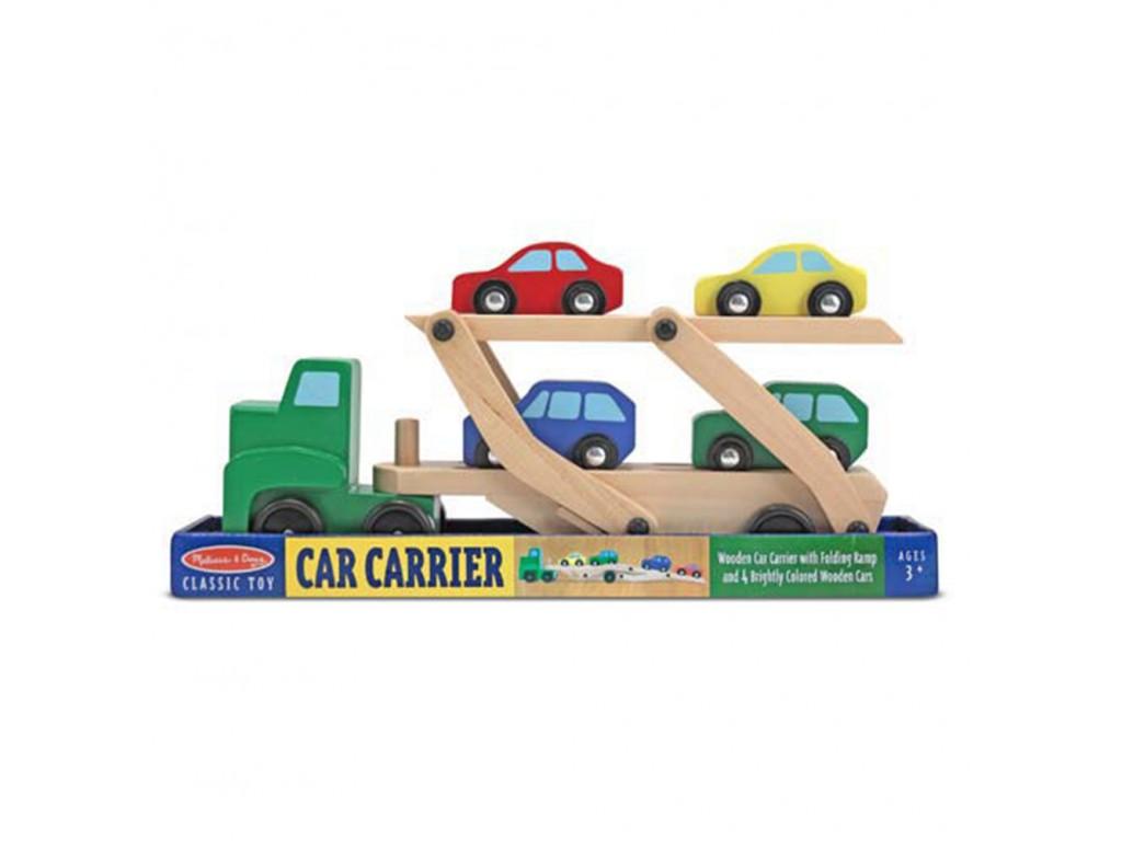 14096 Дървен автовоз с коли м.