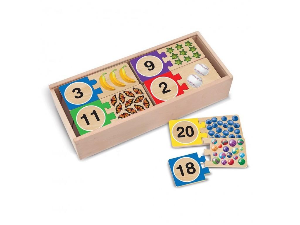 12542 Дървен пъзел цифри
