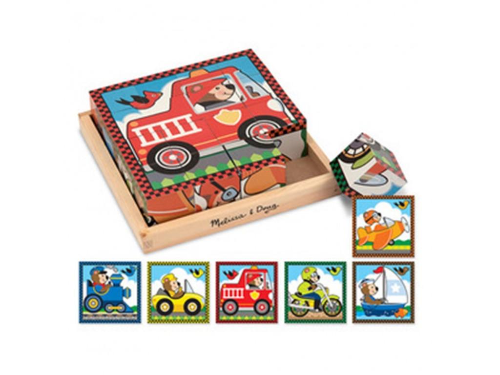 10772 Дървени кубчета 6 превозни средства