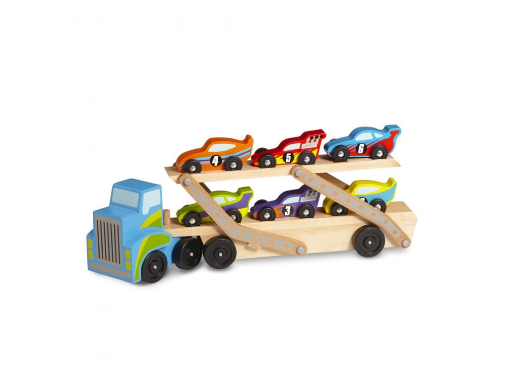 12759 Автовоз с коли дървен